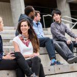 Postdoctoral fellows chatting at UBC